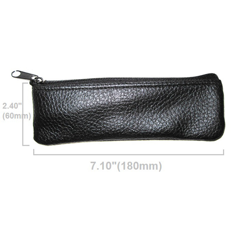 Microphone Leatherette Zippered Case Bag Pouch Dynamic Condenser Shotgun for Many 18X6cm