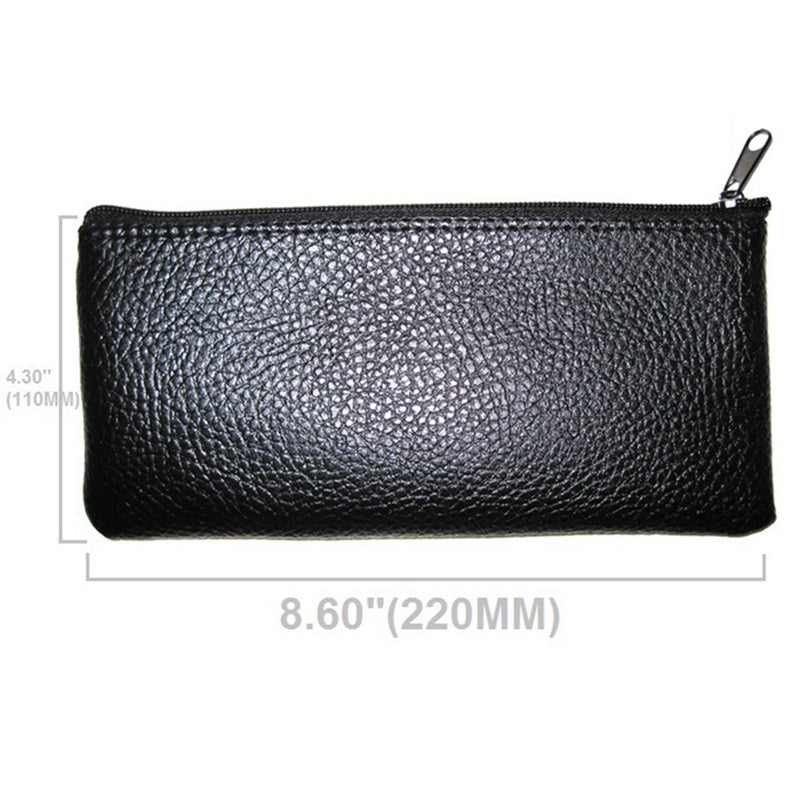 Microphone Leatherette Zippered Case Bag Pouch Dynamic Condenser Shotgun for Many 22x11