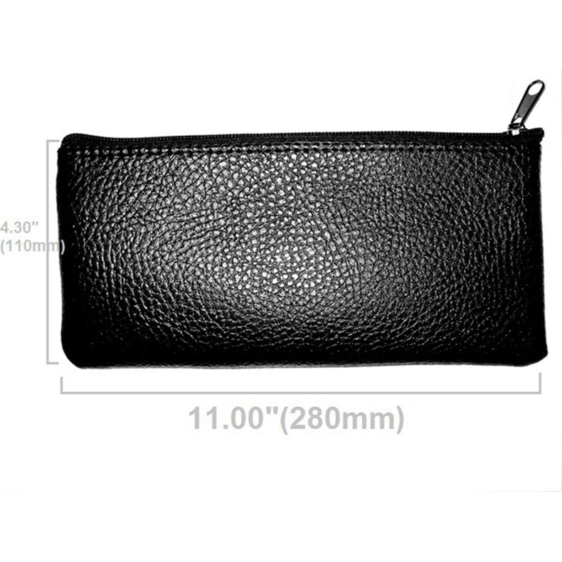 Microphone Leatherette Zippered Case Bag Pouch Dynamic Condenser Shotgun for Many 28x11