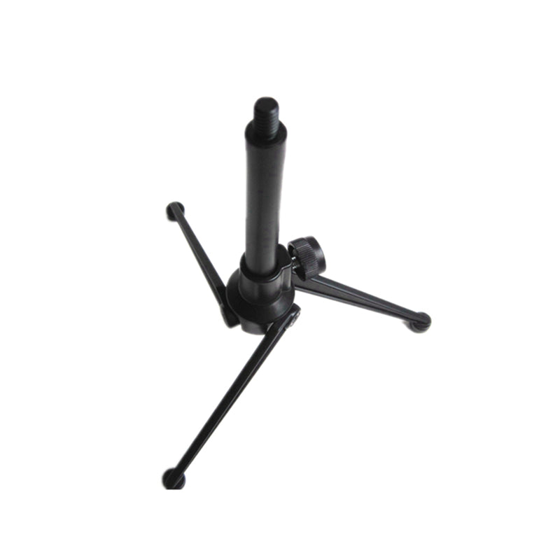 Microphone Low Profile Tripod Base Microphone Stand Desk Top Pro Table Semi Flat Podium Metal