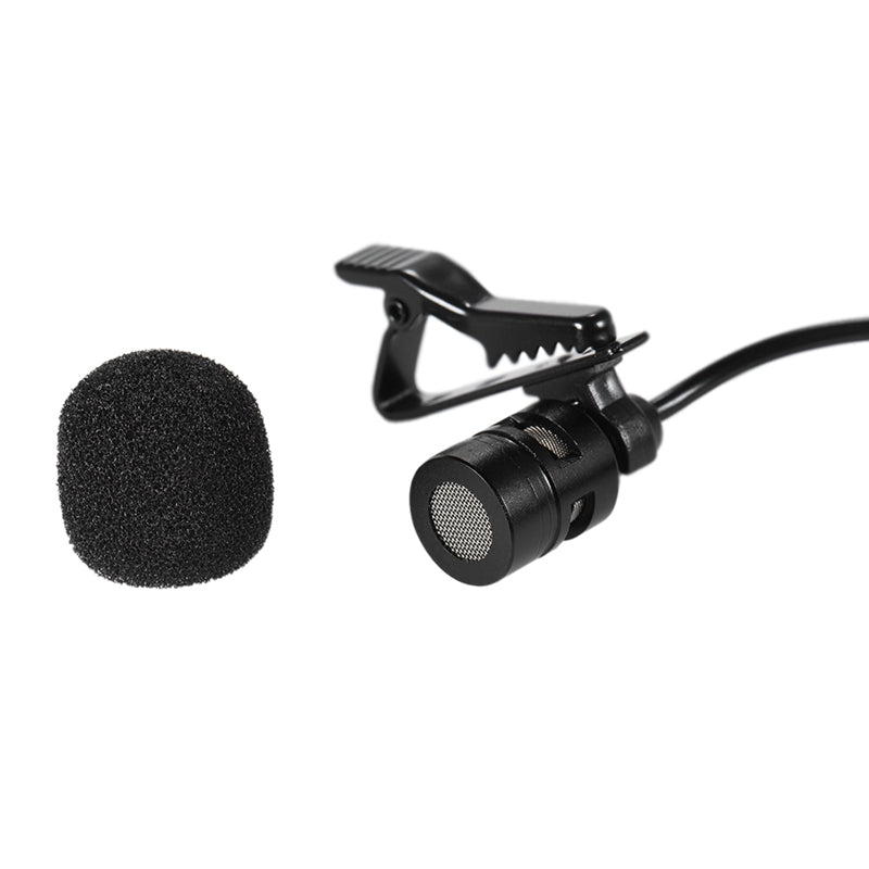 Microphone Mini Dual-Headed Omni-Directional Mic Microphones with Collar Clip for iPad iPhone 5 Cellphone Smartphone 150cm