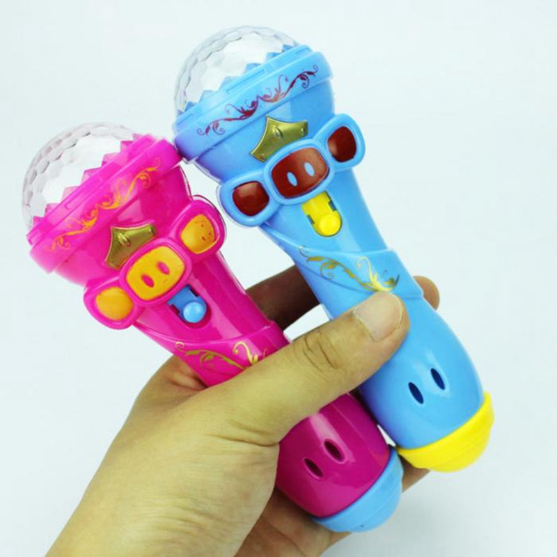 Microphone Model Flashing Toy Lighting Toys Children Kids Wireless Gift Luminous Starry Flashlight Flashing Stick