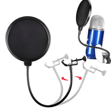 Microphone Pop Filter Blowout Network Windscreen Recording Windproof for Blue Yeti ,Yeti Pro Cover Cantilever Bracket Recording