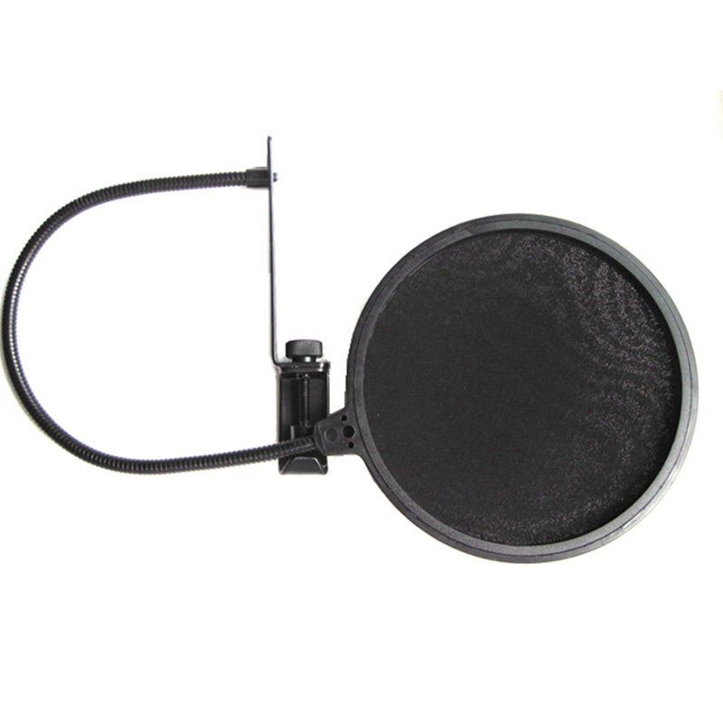 Microphone Pop Filter Dual Nylon Shield With 1/4