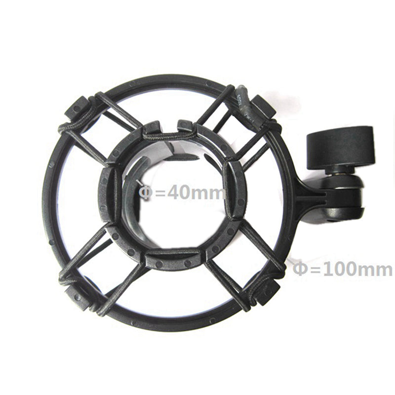 Microphone Shock Mount Clip for Condenser Elastic Suspension Clamp 40mm Pro