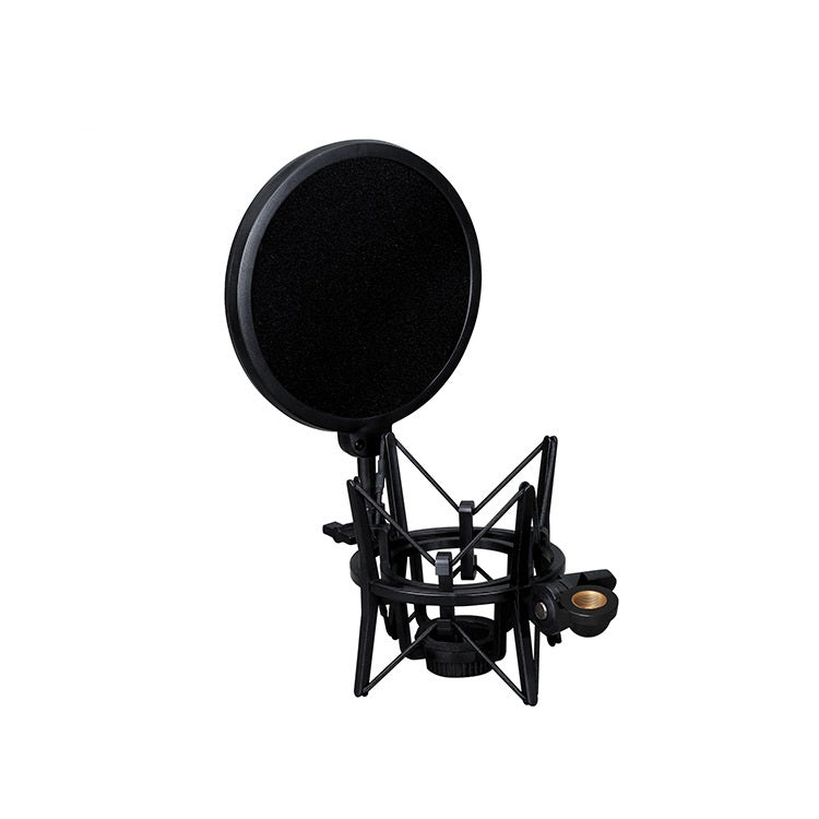 Microphone Shock Mount +Pop Filter Condensor RODE NT1 NT1-A ISK AMI AKG Blue Plastic Studio Recording SH-100