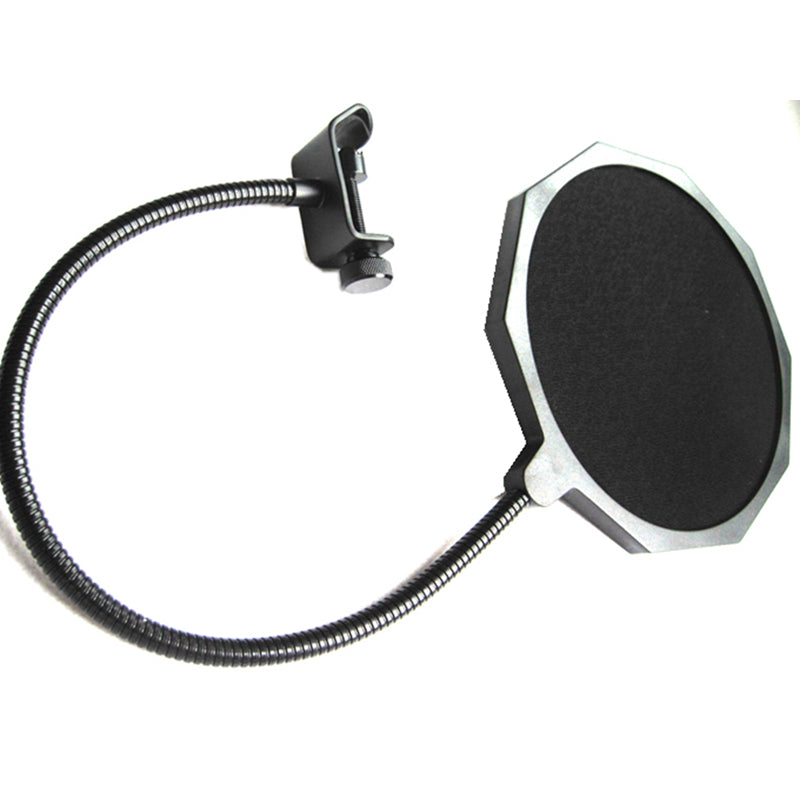 Microphone Anti Wind Screen Mask Mesh Gooseneck Pop Filter Double Nylon Popkiller 360 Flexible Swivel Dual 6