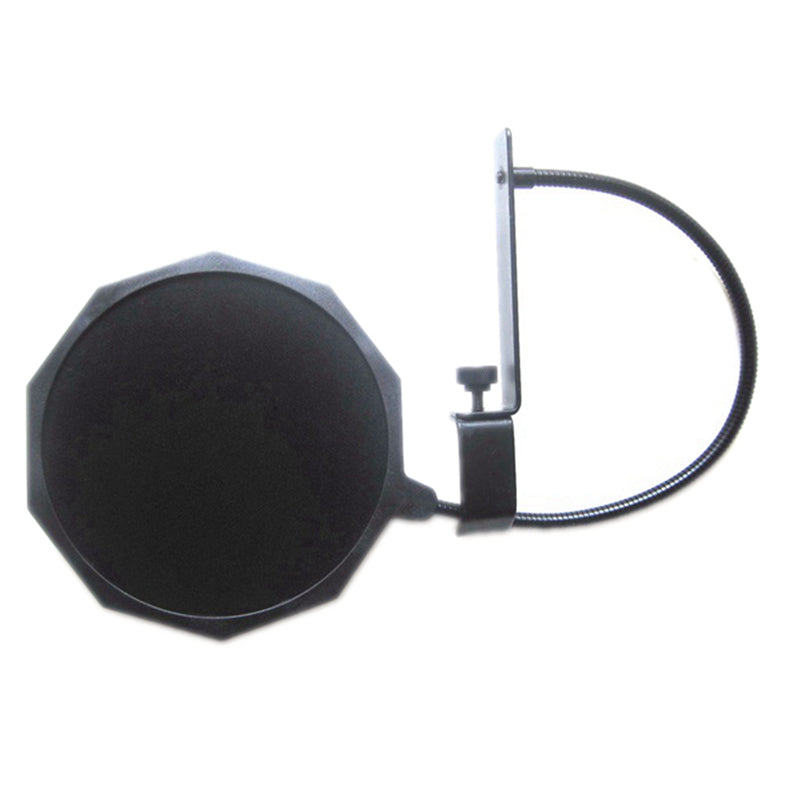 Microphone Anti Wind Screen Mask Pop Filter Dual Double Nylon Shield Mesh Windshield 360° Flexible Gooseneck with Bar Boom Stand Clamp 6