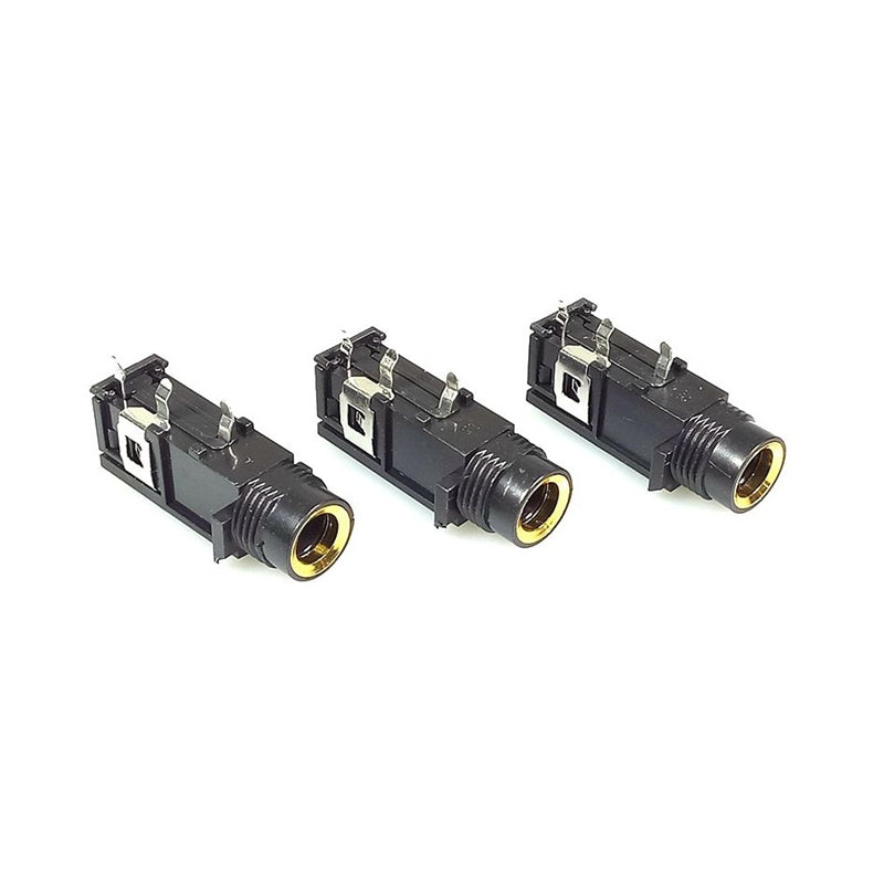 Jack 6.35mm Mono Female Socket Connector Speaker Plug Jack Audio Adapter 3pin Microphone Headphone
