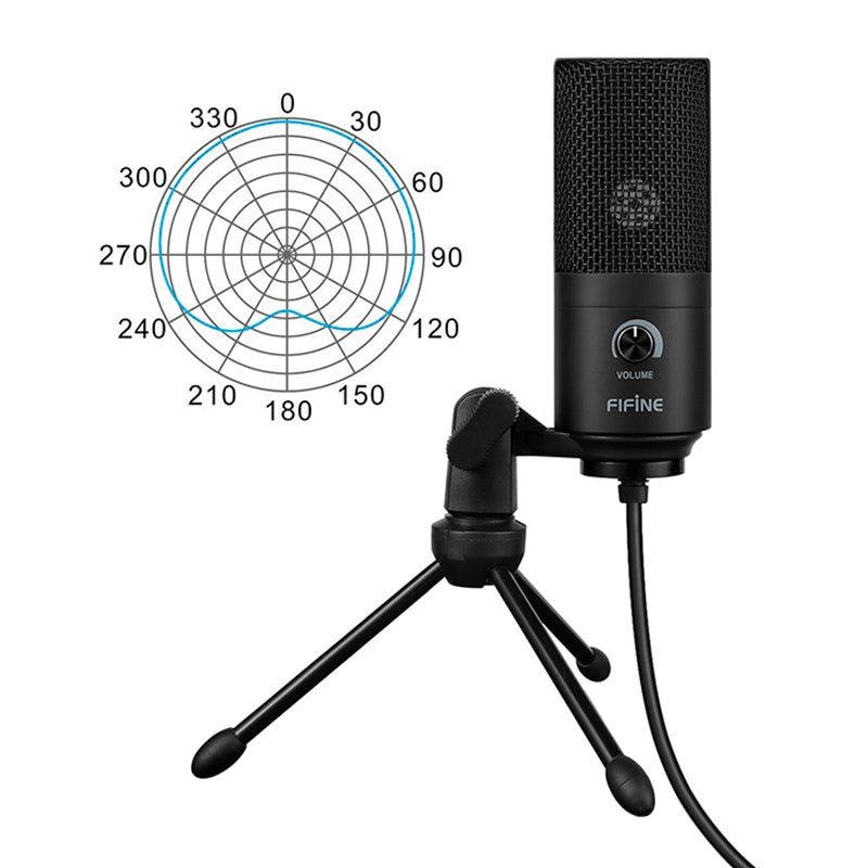 K669B Metal USB Condenser Recording Microphone For Laptop MAC Or Windows Cardioid Studio Recording Vocals Voice Over for Youtube Skype