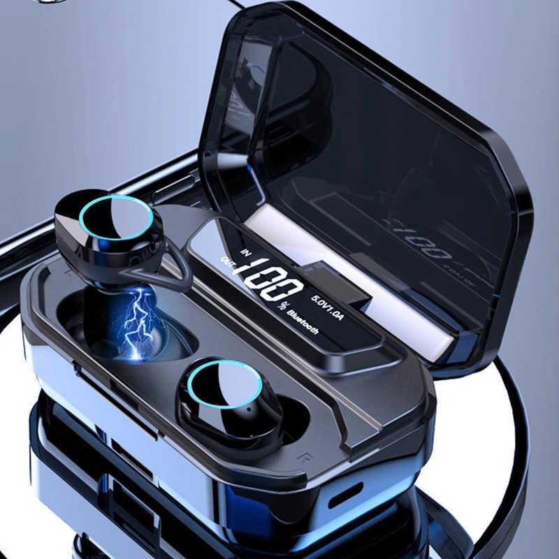 G02 TWS X6 Pro Bluetooth Earphones V5.0 Wireless Headphones 9D Stereo Music IPX7 Waterproof Earbuds with 3300mAh Charging Case