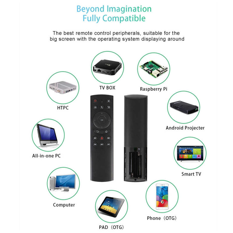 G20S Remote Control Wireless Air Mouse Gyro Voice Control 2.4G Sensing Universal Mini Keyboard for PC Android TV Box