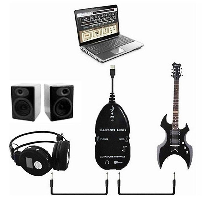 Guitar Cable Audio USB Link Interface Adapter for MAC/PC Music Recording Amplifie Link Accessories Guitarra Players Gift