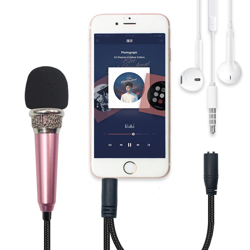 Handheld Mic Portable Mini 3.5mm Stereo Studio Speech Mic Audio Microphone for the Smart Mobile Phone Desktop Accessories