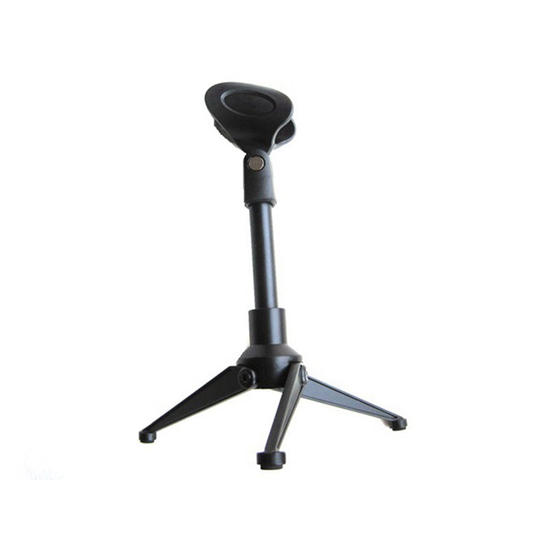 Desk Table Top Tripod Microphone Stand Spring Flat Semi Podium Clip Metal Mount Metal Plastic