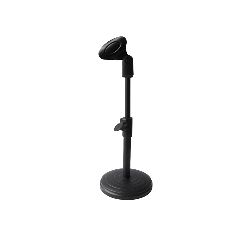 Desk Table Top Tripod Microphone Stand Spring Flat Semi Podium Clip Metal Mount Metal Plastic Base Round