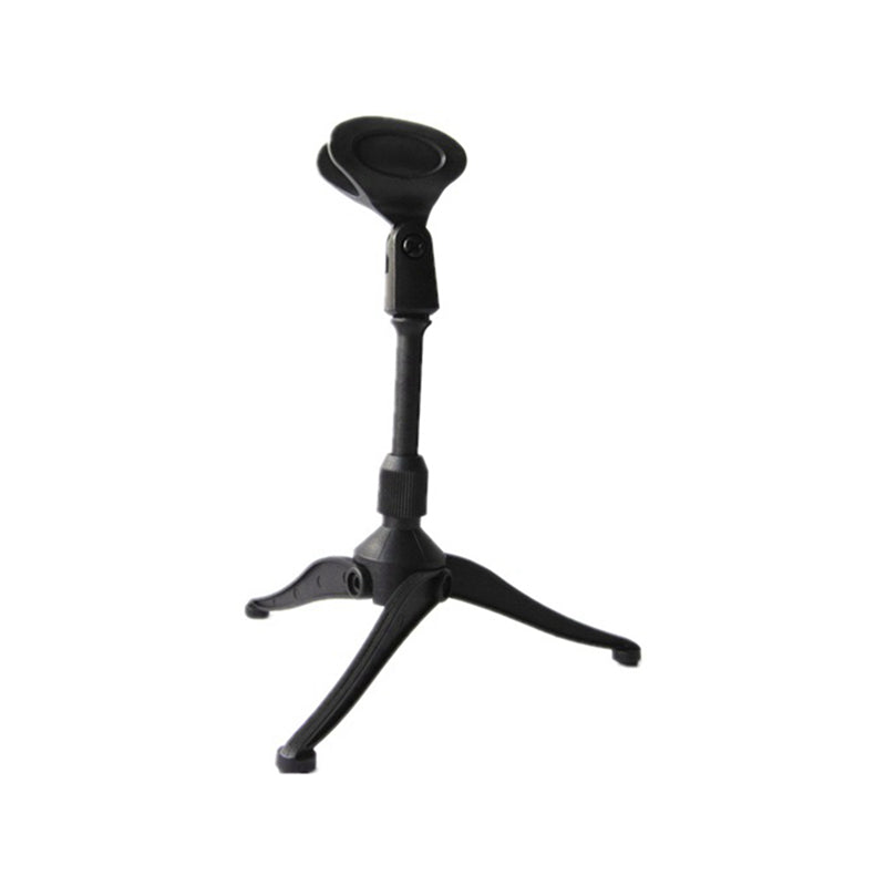 Desk Table Top Tripod Microphone Stand Spring Flat Semi Podium Foldable Clip Plastic Pro Mic