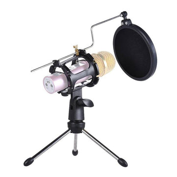 Desktop Microphone Tripod Stand Adjustable Microphone Stand Holder Mic Stand Tripod for Microphone Pop Filter