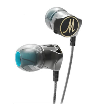 DM7 Earphones Special Edition Gold Plated Housing Headset Noise Isolating HD HiFi Earphone for Phone