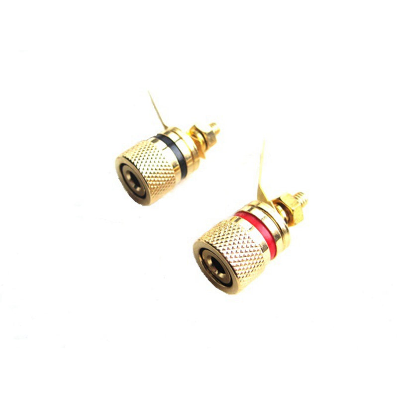 Binding Post Banana Plug Chassis Socket Gold Plated Speaking Jack 13mm