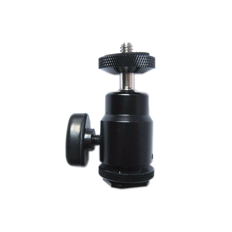 Adjustable Swivel Angle Ball head Standard Tripod 1/4'' Hot Shoe Mount Adapter Holder For Canon Nikon Sony Camera