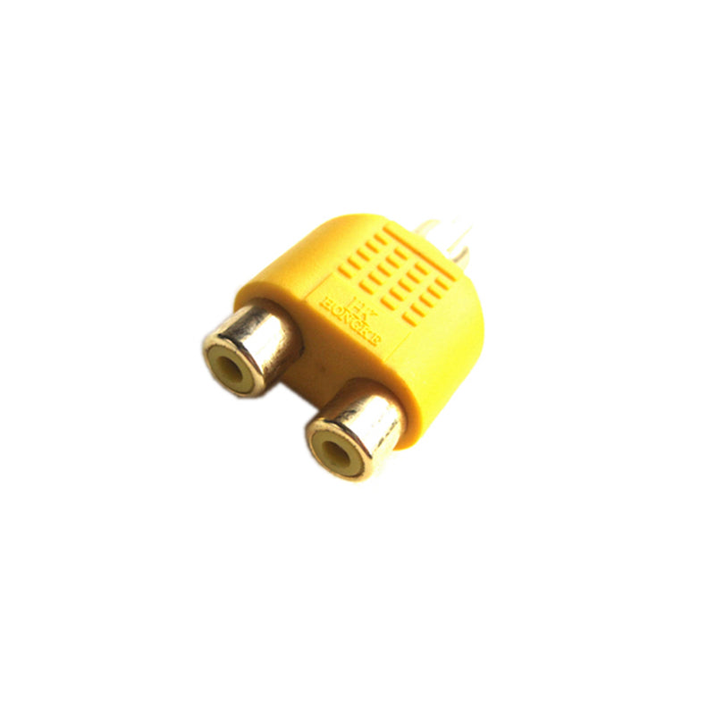 Adapter RCA Phono Male to 2x Female Splitter Gold Plug Socket Bulk Connector Pro