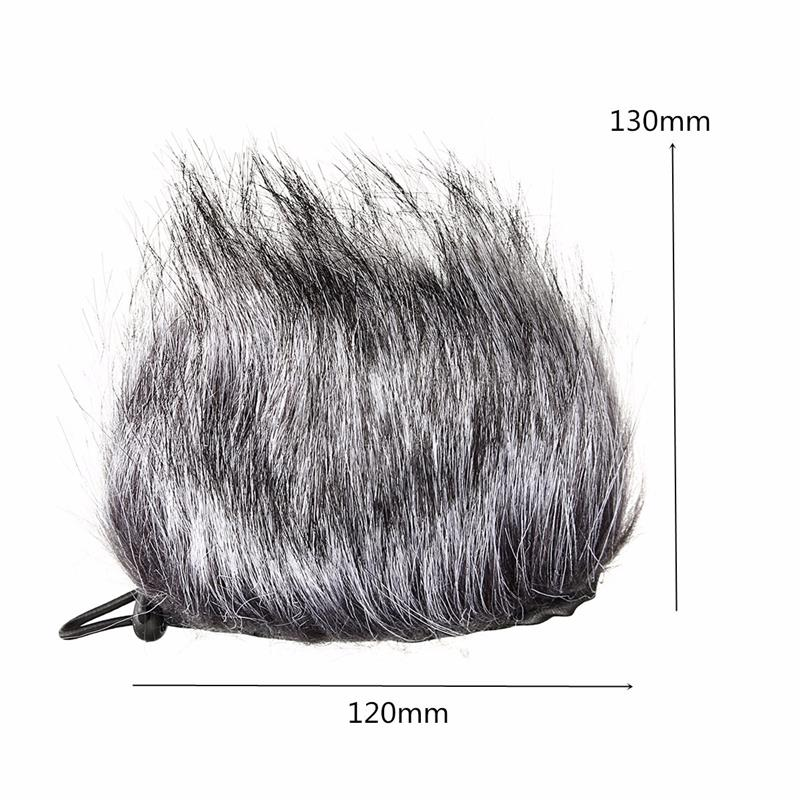 Artificial Microphone Fur Wind Cover Muff Windscreen Sleeve Shield for Zoom H1 H2N H4N Q3 for Sony D50 Recorder 120x130mm