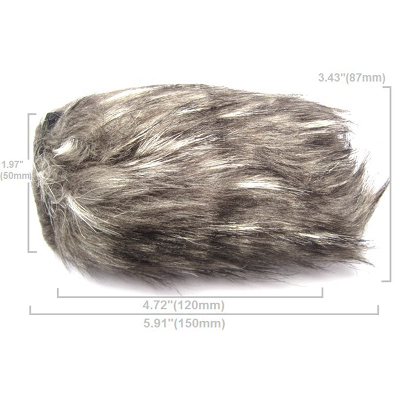 12cm 42mm Windscreen Microphone Fur Muff for Sony 198 1000C 1500c z5c z7c 2000e