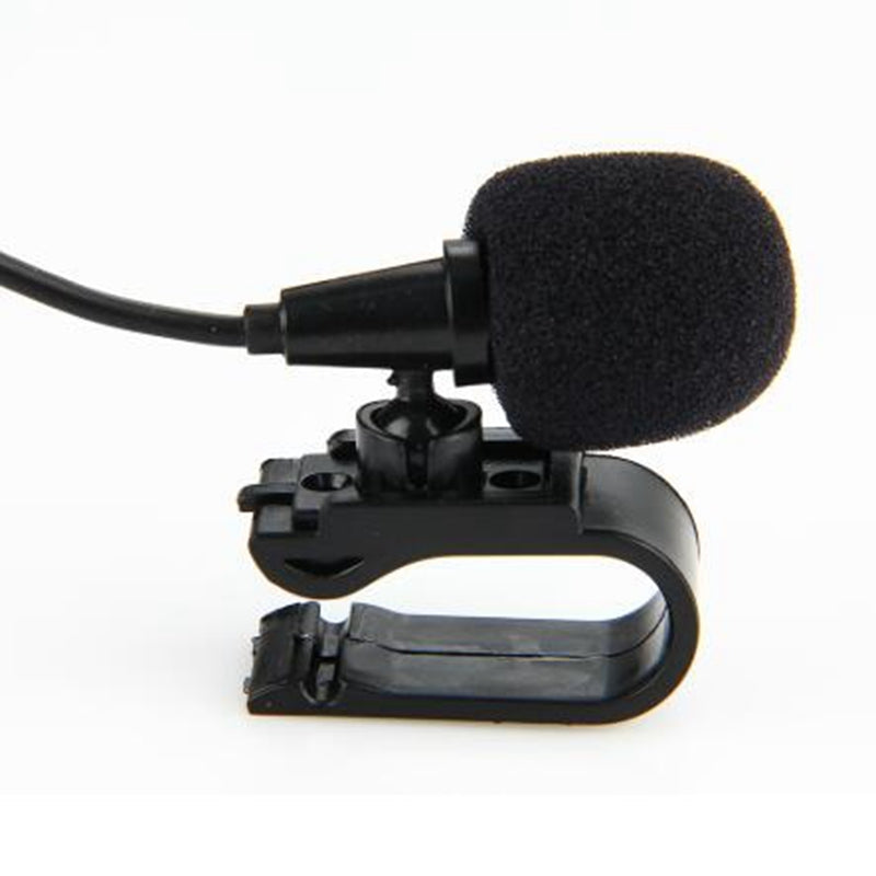 3.5mm External Microphone Mini Car Audio Wired Microphone w/ U Shaped Fixing Clip for Auto DVD Radio Mic Player 3M Long
