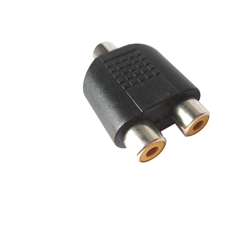 3.5mm Female Stereo Jack Socket to 2 Female RCA Adapter Y Splitter Phone Audio connector Plug Pro