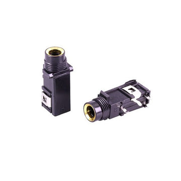 6.35mm Jack Stereo Female Socket Connector Speaker Plug Fack Audio Adapter 4pin Microphone Headphone