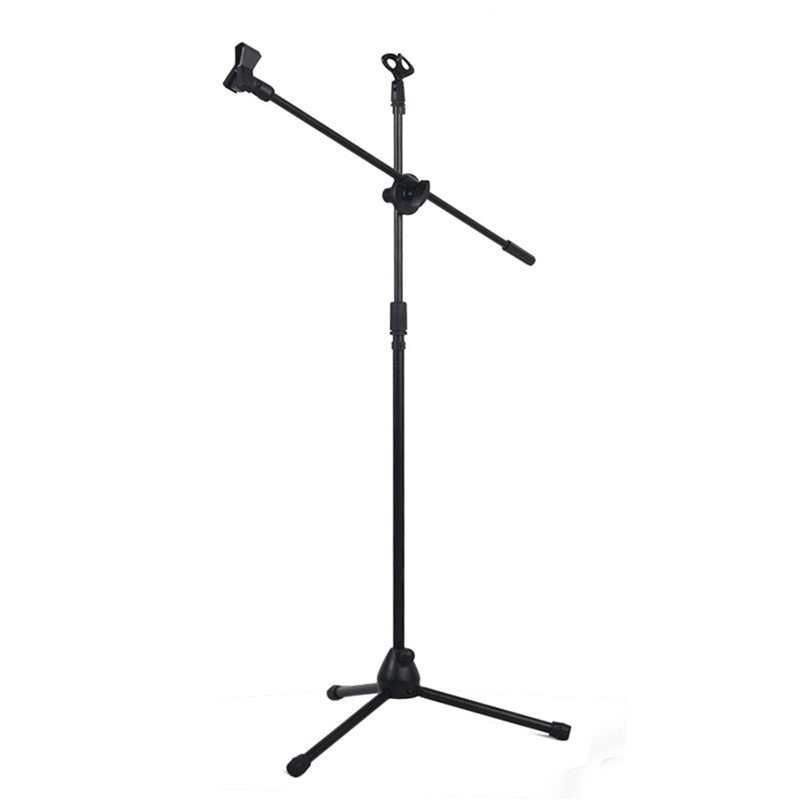 Professional Microphone Stand Swing Boom Floor Holder Stage Studio Tripod Arm Mount Adjustable Metal with Clip Conference KTV