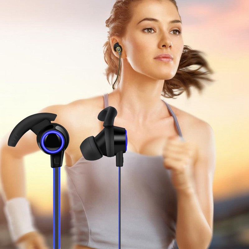 Comfortable Wireless Bluetooth V4.1 Running Noise Reduction Earphone Sport Blue Red