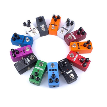 Portable Guitar Effect Pedal Compressor Booster Distortion Overdrive 5 Way Cable 10 Ways 9V 1A Adapter Power Supply
