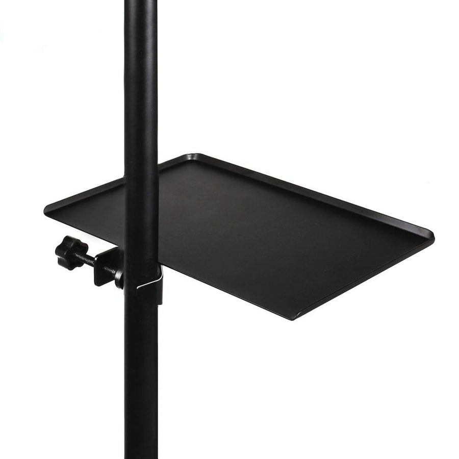 Live Broadcast Microphone Universal Sound Card Tray 200x140MM Mic Rack Stand Black Music Sheet Stand Holder Phone Clip Holder 230x165MM