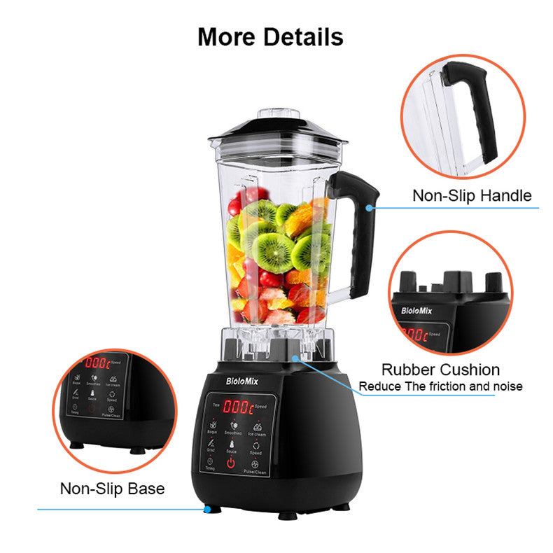 Professional Blender Mixer Juicer 2L Automatic Touchpad High Power Food Processor Ice Smoothies Fruit Digital 3HP BPA FREE