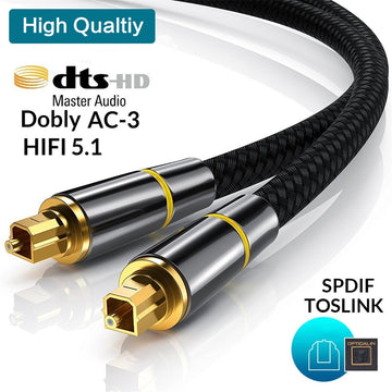 HIFI 5.1 Digital SPDIF Fiber Toslink Optical Audio Cable for TV box PS4 Speaker Wire Soundbar Amplifier Subwoofer 1m 2m 8m 10m