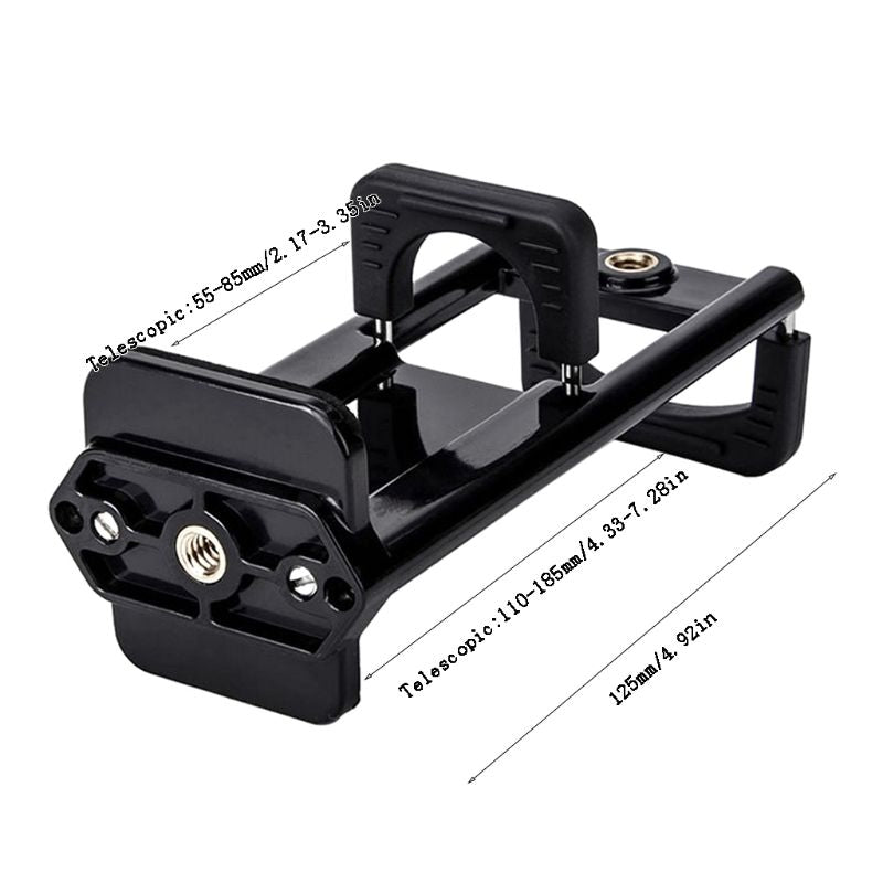 Universal 2In1 Tripod Mount Phone Tablet Holder Clip for iPhone Smart Cellphones Notebook Adapter Clamp Stand Mobile Support