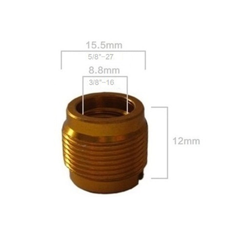3/8 to 5/8 Thread Screw Adapter Microphone Stand Accessory Brass Mount Metal Euro Plastic Nickel Plated Camera