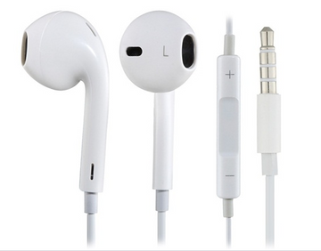 3.5mm Plug In-ear Earphone with Microphone & Volume Control for iPhone iPod iPad Best Seller White