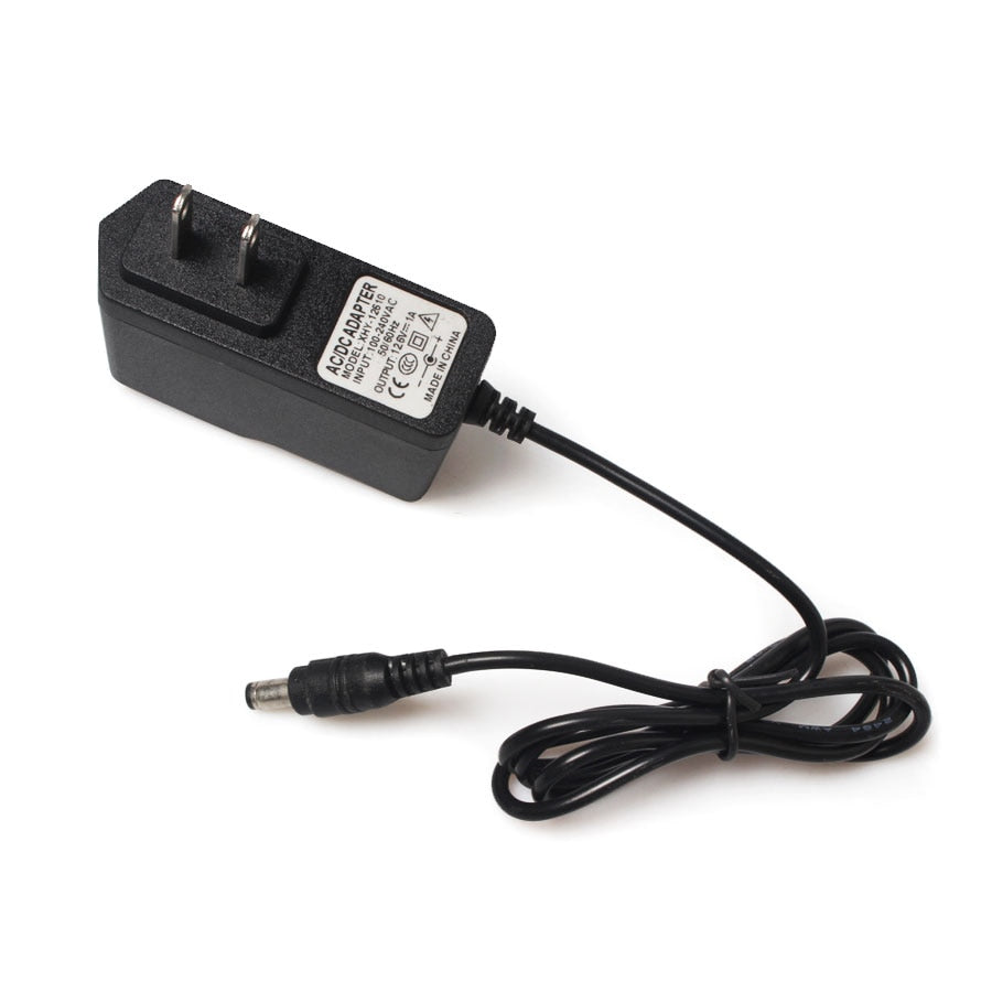 12.6V 1A Lithium Battery Charger 18650/Polymer Battery Pack 100-240V EU/US Plug Charger With Wire Lead DC Plug 5.5*2.1*10MM