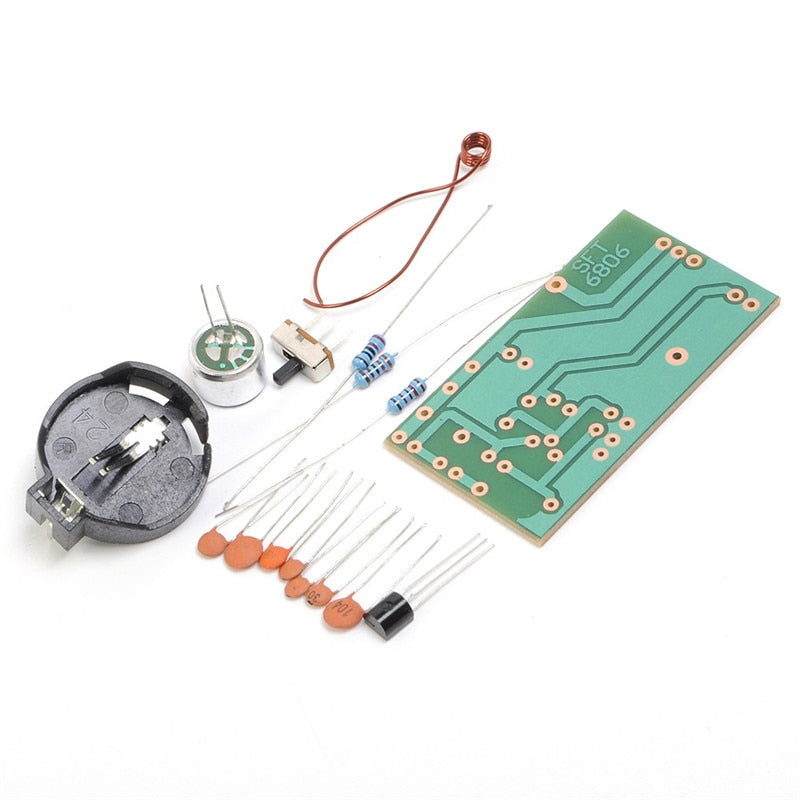Electronic FM Transmitter Module Frequency Modulation Wireless Microphone PCB Board Parts Kits Simple Production Suite DIY Kit