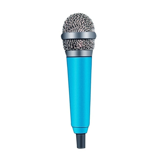 Mini Microphone 4 Color Handheld Mic Portable Mini 3.5mm Stereo Studio Microphone For Laptop PC Desktop KTV Karaoke 5.5cm*1.8cm