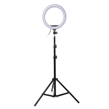 Universal 10 inch Photography LED Selfie Ring Light 26cm Dimmable Camera Phone Ring Lamp With Stand Tripods For Makeup Video Live Studio