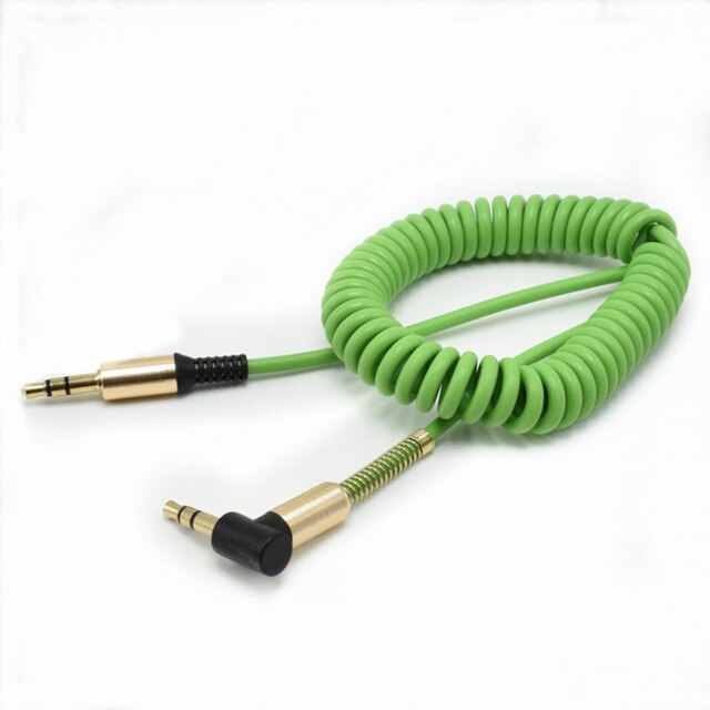 3.5mm Male to Male Audio Cable Stretchable AUX Cable Headphone Beats Speaker for MP3 MP4 iPhone Car Spring 1.8M Audio Cable