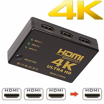 1080P 4K*2K HDMI Video Switch Switcher Splitter 3 input 1 output Port Hub for DVD Xbox PS3 PS4 HDTV