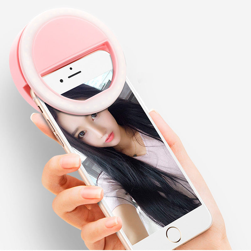 Universal USB Charge LED Selfie Ring Light for Iphone Supplementary Lighting Selfie Enhancing Fill Light For Phones A2