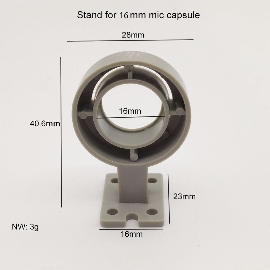 Professional 16mm Mircophone Capsule Element Holder for DIY  Mic