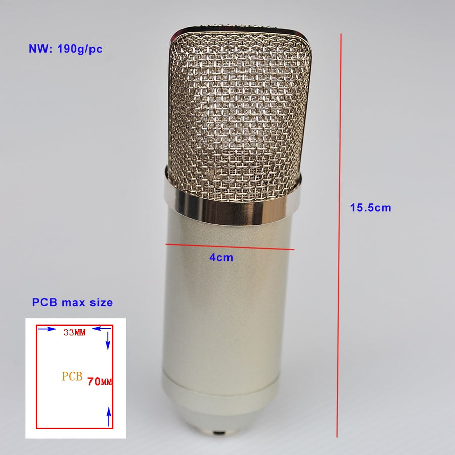 Professional Metal Body Caseing Mic Case for DIY Microphone