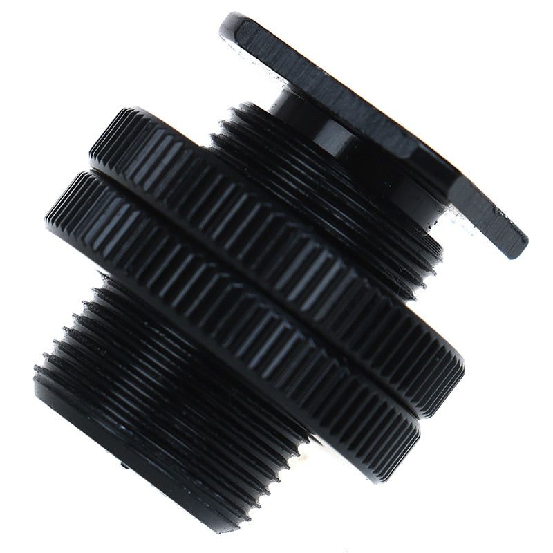 5/8 inch 1/4 inch Screw Adapter for Camera Tripod Head Hot shoe Microphone Mic Mount Bracket Metal Shockproof Clip